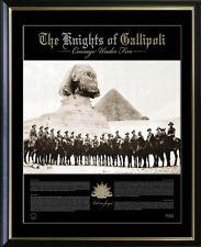 KNIGHTS OF GALLIPOLI ANZACS AT WAR PRINT PHOTO FRAMED LIMITED EDITION