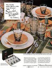 Libbey Smoke Ripple Glasses IROQUOIS HARVEST TIME CHINA 1959 Magazine Print Ad