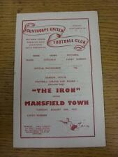 26/08/1975 Scunthorpe United v Mansfield Town [Football League Cup] (Light Rusty