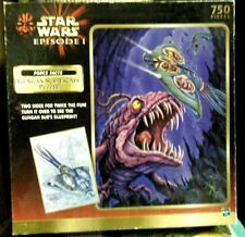 NEW Sealed 750 pc Hasbro 2-Sided puzzle Star Wars Episode 1 Gungan Sub Escape