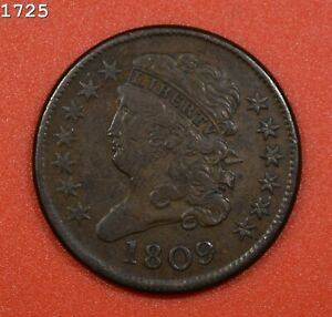 """1809 Classic Head Half Cent """"XF+"""" *Free S/H After 1st Item*"""