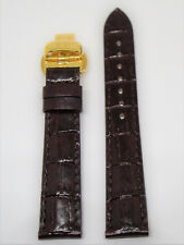 Original Tissot Vintage Lady Brown Leather Band Strap w/ Gold Buckle For T920210