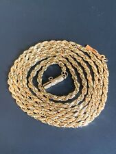 14k solid gold not scrap 2.8 grams vintage rope chain 21 inches long!! NR