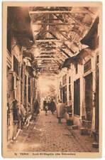 Postal Tunez. Souk El-Blagdjia (des Babouches) Nº 87. Librairie Saliba