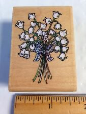 Stampington & Co P2117 Lily of the Valley Flower Bouquet Rubber Stamp Not Inked