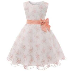 2021 Party Dresses Girls Sleeveless Girls Princess Dresses Kids Flower Clothes