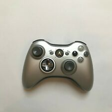 Microsoft Xbox 360 Controller Gamepad PC silver good condition