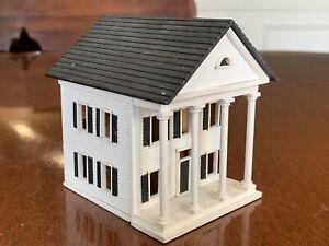 Gudgel 1984 White Greek Revival House Pull Apart Signed #358 1/144th Miniature