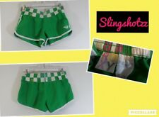 """*Roxy* Jrs """"5"""" Green Low Check Pull-on Poly Mini Board/Surf Shorts"""