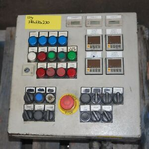 4X OMRON Electronic Counter H7CL-AD-500 IN CABINET with switches