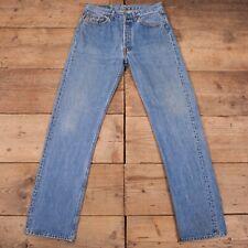 "Vintage Levis 501 Red Tab Stonewash Blue Straight Denim Jeans 32"" x 34"" R18090"