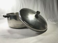 Vtg Farberware 6 Qt Stock pot with lid Aluminum Clad Stainless Steel