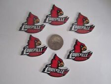 6 NEW UNIVERSITY OF LOUISVILLE FLAT BACK PLANAR RESINS CABOCHONS*SHIPS FREE*