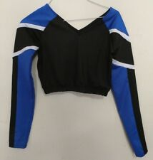 Official Authentic IPFW Cheerleading Body Suit Blue Black Mastodons White Cheer