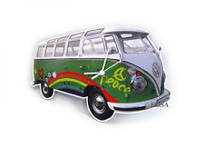 Camper Van Bus T1 Wall Clock Peace Vw Collection by Brisa Buwc04