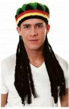 Jamaican Rasta Rastafarian Hat Hair Dreadlocks Party Costume Outfit Joke Funny
