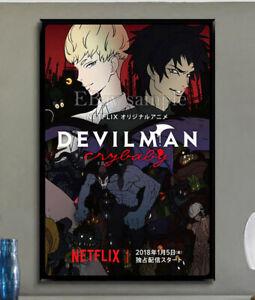 302C2 Devilman Crybaby Japanese Anime Classic TV Show Print Silk Cloth Poster
