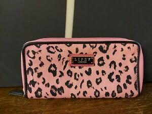 Lipsy Pink & Black Animal Print Purse, 21 x 11 x 2cm