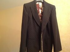 Giafranco Ferre Women Blazer Jacket Brown Color New SZ L Made in Italy