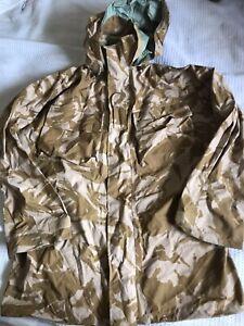 British Army-Issue Desert-DPM Gore Tex Waterproof Jacket. Size 180/104.