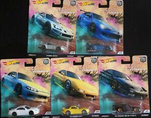 Hot Wheels Street Tuners Subaru Nissan Mazda Honda Lot de 5 (NG46)