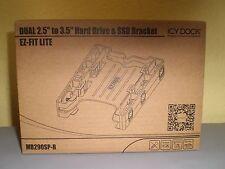 "ICY DOCK EZ-Fit Lite MB290SP-B 2x 2.5""to3.5"" SATA SSD/Hard Drive Bracket Adapter"