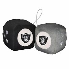 NFL Oakland Raiders Fuzzy Soft Plush Hanging Dice Home office Car Truck