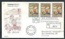 1961 VATICANO FDC RODIA NATALE NO TIMBRO DI ARRIVO - VT1