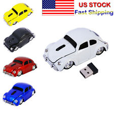 2.4GHZ Beetle Car Shape Wireless Mouse USB optical LED mice for PC Laptop Gift