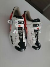 Sidi Wire Carbon Vernice Road Cycling Shoe - White/Red EU 45