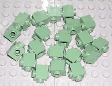 LEGO 20 Sand Green Bricks Modified 1 x 1 with Studs on 2 Sides NEW