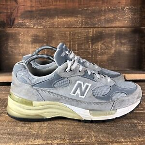 New Balance 992 Mens Gray Solid Suede Lace Up Low Top Sneakers Shoes Size 8