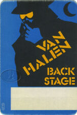 Van Halen 1984 Villain Backstage Pass Blue/Ylw
