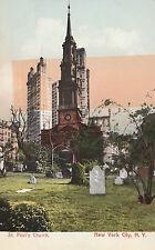 Antique St Paul's Church New York City New York #D28