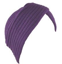 Turban Hat Head Cover Winter Knit Hat Beanie Purple