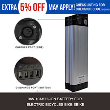 Monsterpro 36V 10Ah Li-Ion Electric Bicycle Battery with Charger