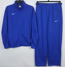 NIKE BASKETBALL WARM UP SUIT JACKET + PANTS ROYAL BLUE WHITE RARE NEW (SIZE XL)
