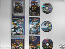 RATCHET AND CLANK 1, RATCHET AND CLANK 2 & RATCHET AND CLANK 3 for PS2
