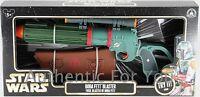 NEW Disney Parks Star Wars BOBA FETT BLASTER Green Toy Gun with Lights & Sounds