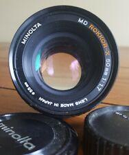 Minolta MD Rokkor-X 50mm f/1.7 Lens