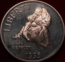 Uncirculated Proof 1995-S Civil War Commemorative Silver Dollar