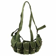 CHINESE TYPE 56 SKS CANVAS CHEST RIG AMMO BANDOLIER RIG 10 POUCHES