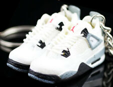15bb56917fe9b3 Air jordan IV 4 Retro Cement White OG Sneakers Shoes 3D Keychain Key Figure  1