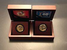 Niue Disney Mickey Mouse & Donald Duck 1/4 oz Gold Coin Set