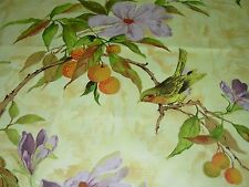 """~7 2/8YDS~HERITAGE HOUSE~""""FLOWER SONG"""" BIRDS~DRAPERY UPHOLSTERY FABRIC FOR LESS~"""
