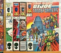 STAN LEE PRESENTS VINTAGE GI JOE & TRANSFORMERS 1 2 3 4 1ST SERIES MARVEL COMICS