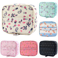 Women Multifunction Expandable Zipper Make Up Handbag Travel Cosmetic Pouch Bag