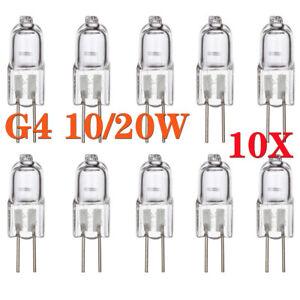 Halogenlampe G4 10W 20W 12V Stiftsockel leuchtmittel Ersetzen Leuchtkörpern