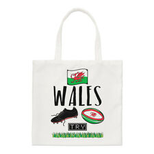 Rugby Wales Small Tote Bag - Funny League Union Flag Shopper Shoulder