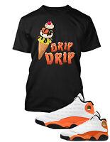 Drip Cone Sneaker Tee Shirt to Match Air Jordan 13 Starfish Shoe Graphic Tshirt